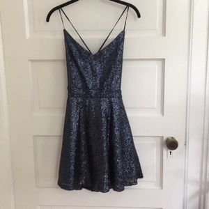 Sexy blue sequin party dress!